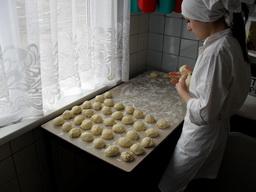 Учащиеся в лаборатории поваров